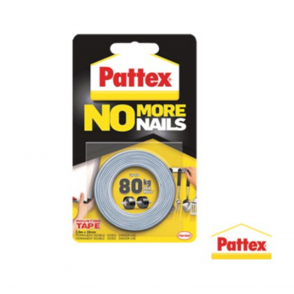 Stationery Wholesalers |no more nails tape, 80 kg, pattex, white, mounting tape, 19mm x 1,5m