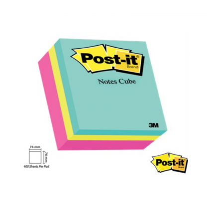 Stationery Wholesalers| Post-it Notes, New Colors ,Bright Notes, 100 Sheets Per Pad, Note Cube , Sticky Notes , Blue Notes, Green Notes