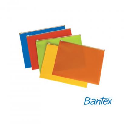 Stationery Wholesalers  Bantex, Pvc Zippa Bag ,Assorted Colors , Zip Lock Bag, A4 Bag, A5 Bag