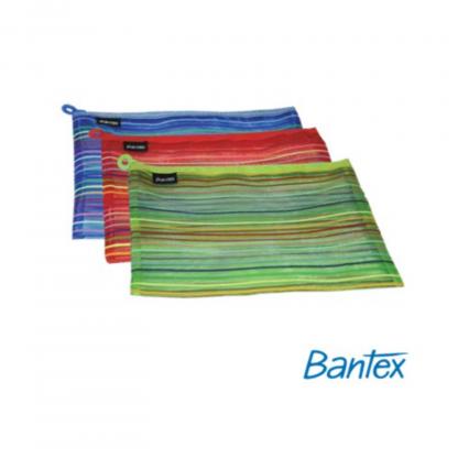 Stationery Wholesalers| Bantex ,Mesh Bag , Mesh Striped Bag , Mesh Zippa Bag, All Colors,