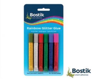 Stationery Wholesalers| Bostik , Rainbow Glitter Gue , Washable, Small Tubes of Glue ,Acid Free, Smart Adhesive