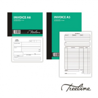 Stationery Wholesalers |invoice, A5, A6, invoice soft cover, 100pgs, treeline, carbom, treeline,