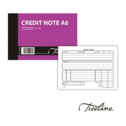 Stationery Wholesalers |credit note A6, soft cover, 100pgs, duplicate, carbon paper