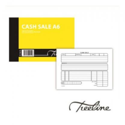 Stationery Wholesalers  cash sale A6, treeline, carbon paper, 100pg, duplicate