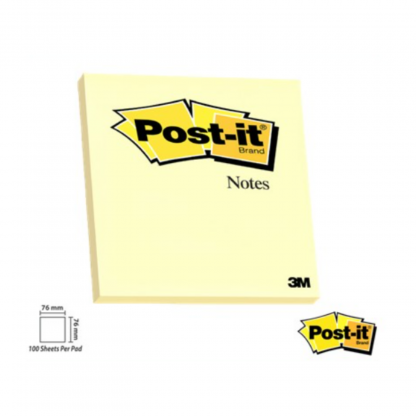 Stationery Wholesalers| Post-it Notes , Pastel yellow notes, 100 Sheets