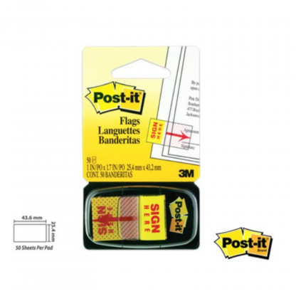 Stationery Wholesalers| Post-it Notes ,Sticky Notes, Sign Here Notes , Flags , Pop Up Flags, Yellow