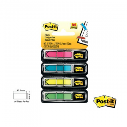 Stationery Wholesalers| Post-It Flags, Sticky Notes, Sticky Flags, Flags, Notes, Pop Up Notes , Greeen, Yellow, Blue, Pink