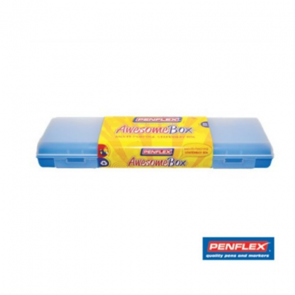 Stationery Wholesalers |awesome, box, pencil case, penflex, 30cm, blue,
