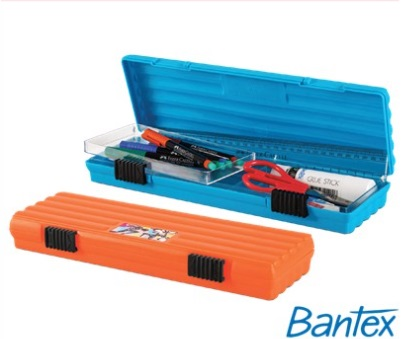 Stationery Wholesalers  Bantex , McCasey2 Pencil Case ,Blue , Full Size Tray , Removable Tray