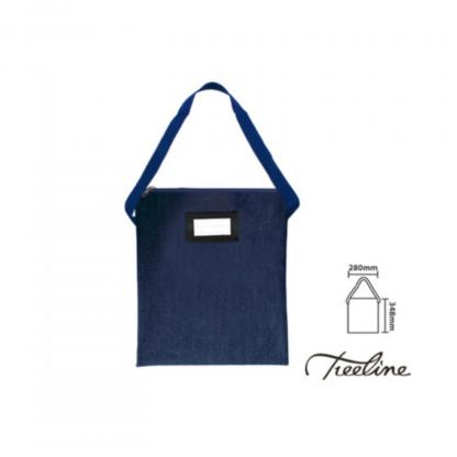 Stationery Wholesalers |denim library book bag, treeline, zip up book bag, blue denim
