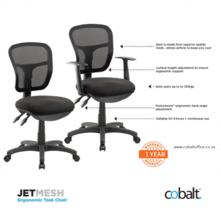 Stationery Wholesalers | office chairs, black chairs, school chairs, jet mesh, task chairs, cobalt