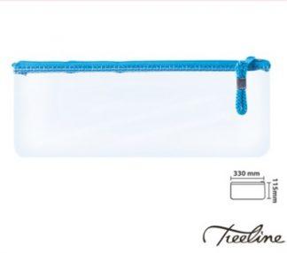 Stationery Wholesalers | Treeline, Clear Pencil Bag , Transucent Pencil Case, colored zip Bag , 33CM