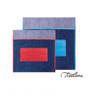 Stationery Wholesalers |denim chair bag, treeline, 385mm x 485mm, kids small chair bag, assorted colors, denim,