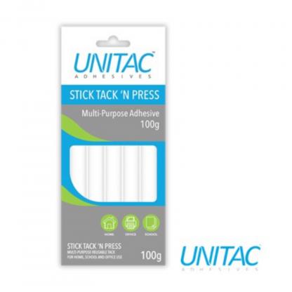 Stationery Wholesalers  multi-purpose adhesive, unitac, 100g, stick tack and press,