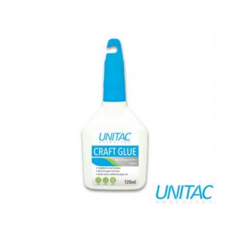 Stationery Wholesalers |craft glue, 120ml glue, adhesive, white bottle, unitac, toxic free,