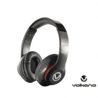 Stationery Wholesalers| Volkano , Headphones , Black HEadphones, Built n Mike, Bluetooth Headphones, Black ,Impulse Series
