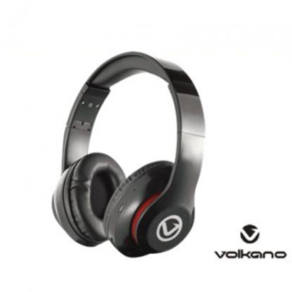 Stationery Wholesalers  Volkano , Headphones , Black HEadphones, Built n Mike, Bluetooth Headphones, Black ,Impulse Series
